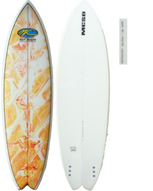 dart fish orange marble deck
