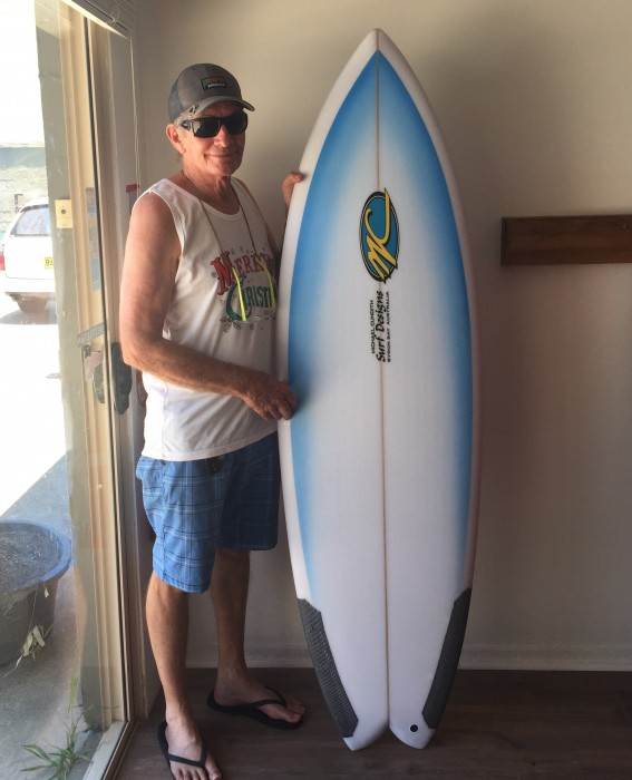 Michael Cundith with custom order board.