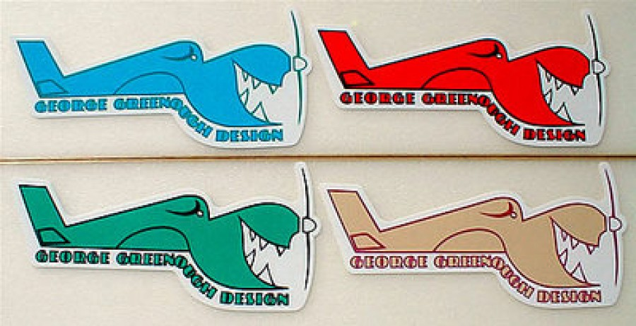 George Greenough Airplane Logo Car Sticker